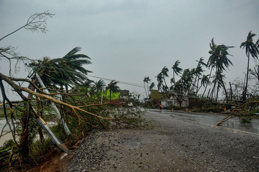 The destruction caused by Cyclone Fani after its landfall, in Puri, Friday, May 3, 2019.