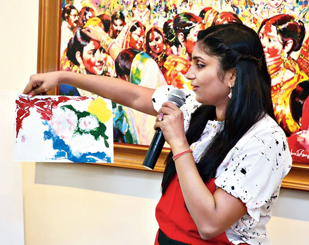 Aradhana Dalmia teaches classes in colour therapy and art therapy