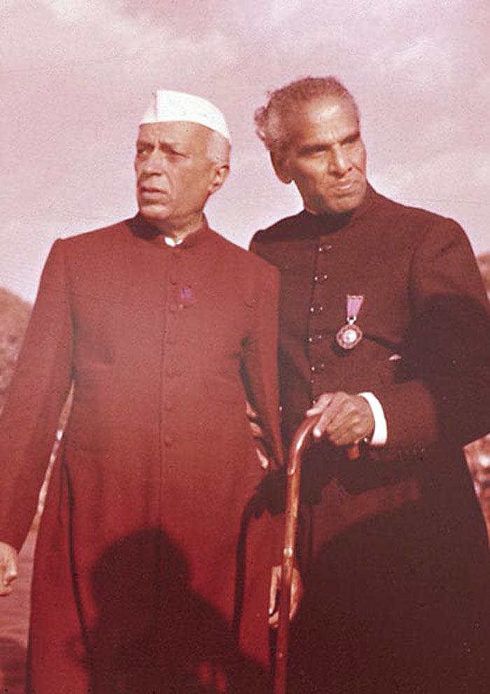 Jawaharlal Nehru with V.K. Krishna Menon