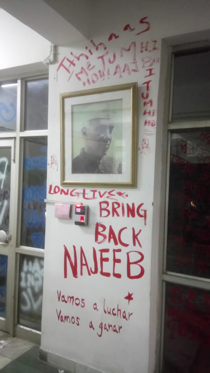 JNU student Najeeb Ahmed was reported missing after a clash with ABVP supporters on campus in 2016. He has not been found.