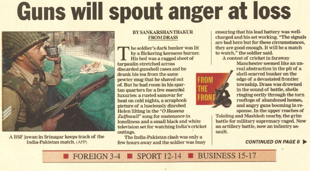 Kargil reports from 1999: That year, that Cricket World Cup