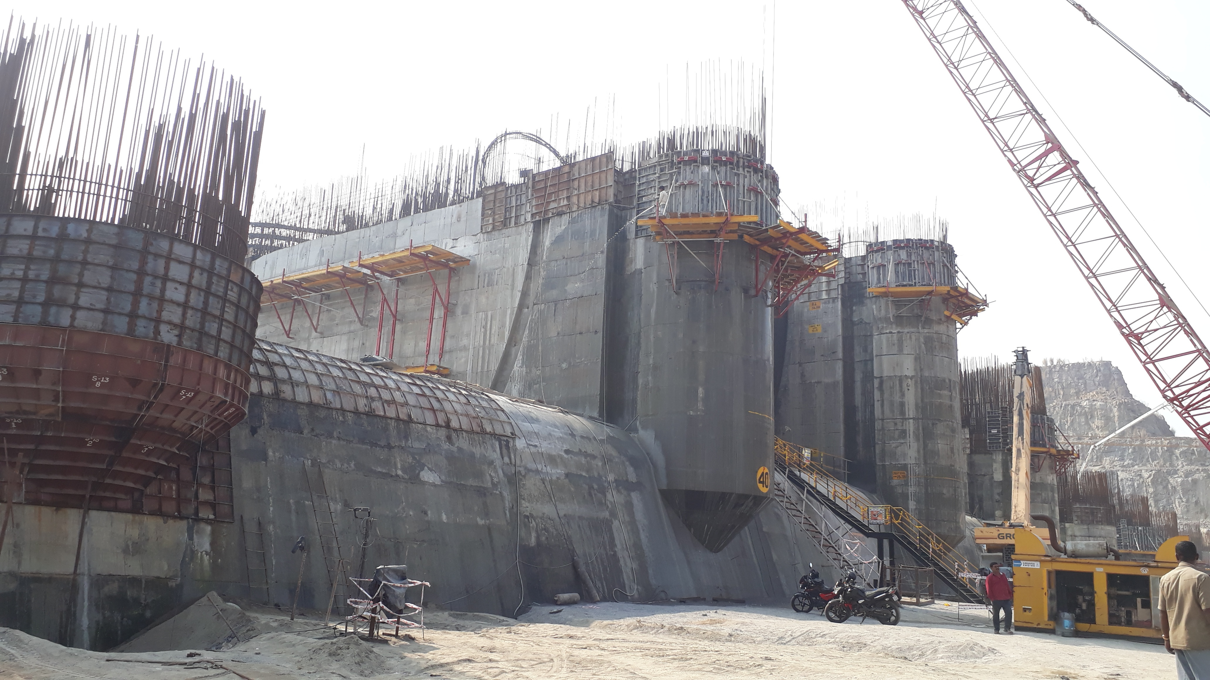Under construction Polavaram dam on Godavari River. The amount has been released even as the state was awaiting disbursal of over Rs 3,000 crore by the Centre which has agreed to bear the entire cost of over Rs 55,500 crore for the project, a top official of the water resources department said.