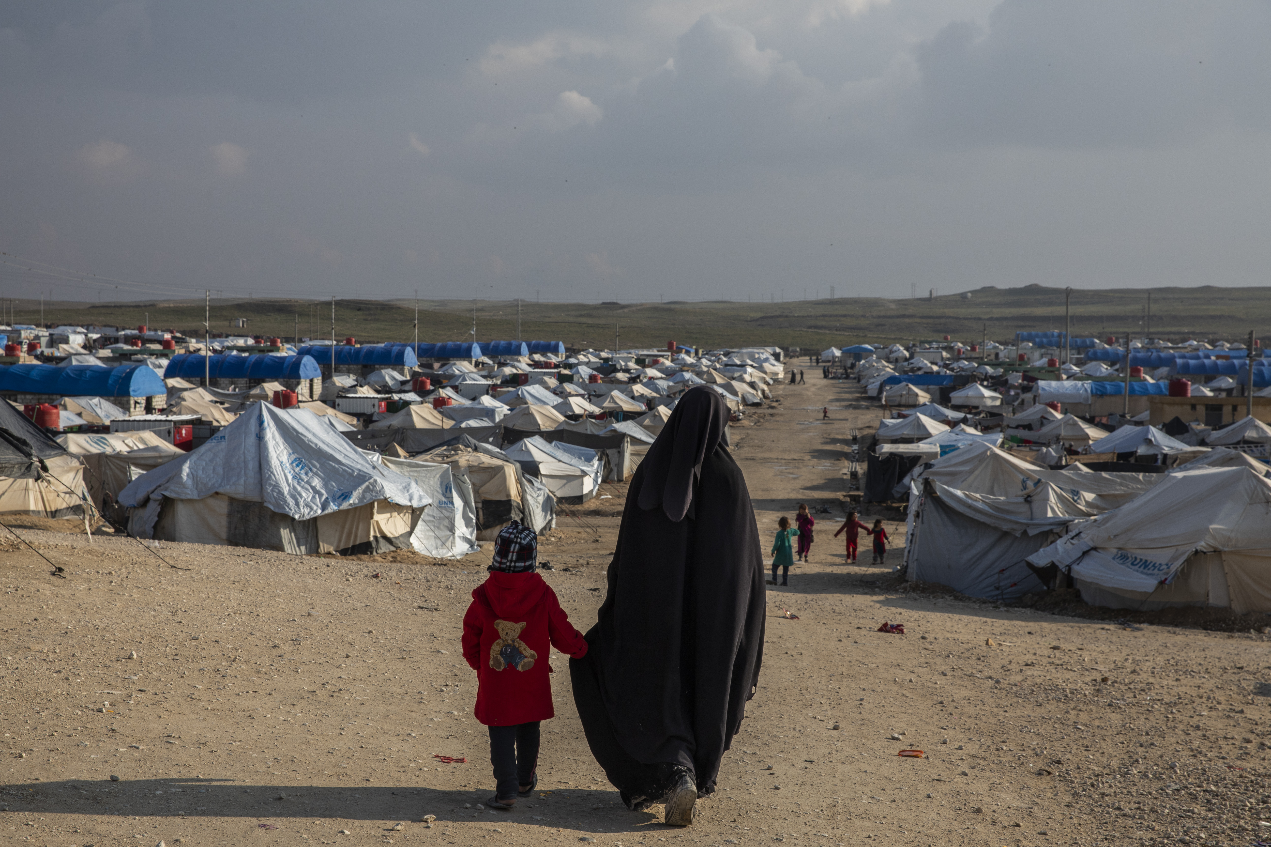The Al-Hawl refugee camp in Syria, where many who have fled areas that were under control of the Islamic State group are now kept.
