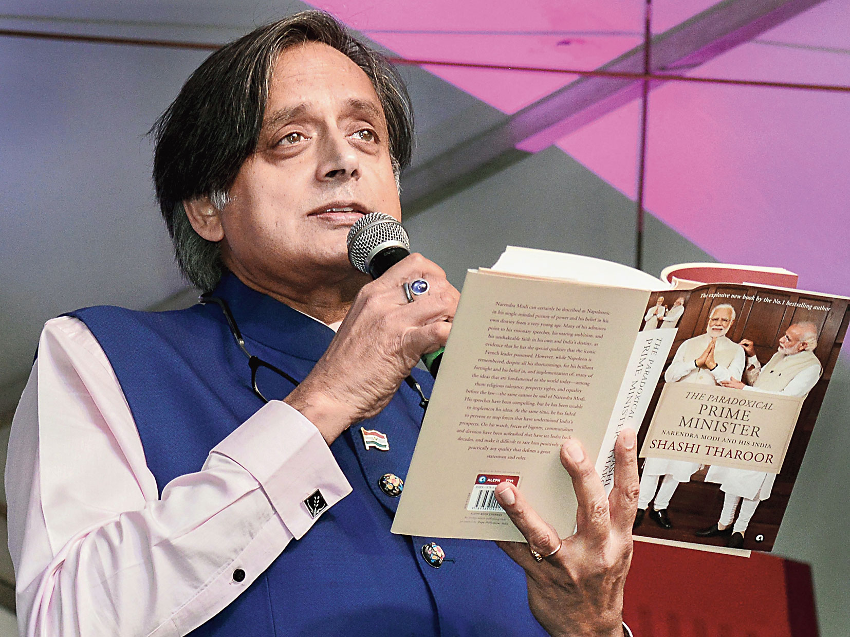 Tharoor at the Bangalore Literature Festival on Sunday.