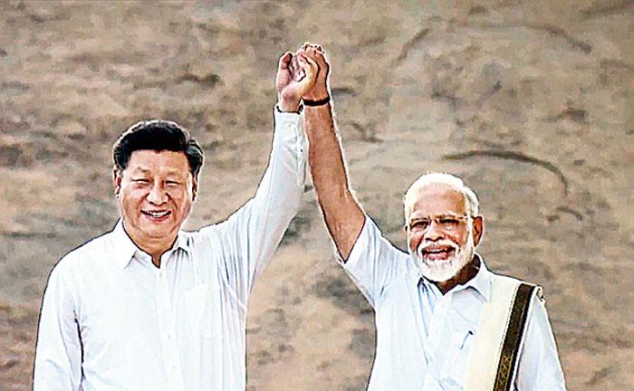 Xi, Modi take in sights of Mahabalipuram