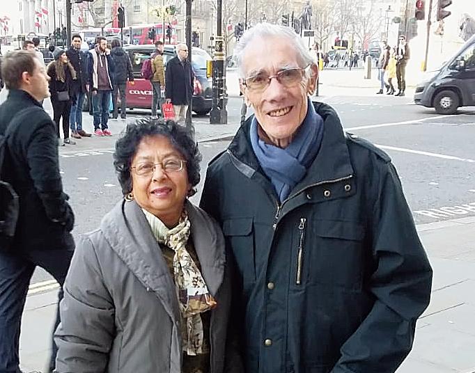 John West with wife Neena