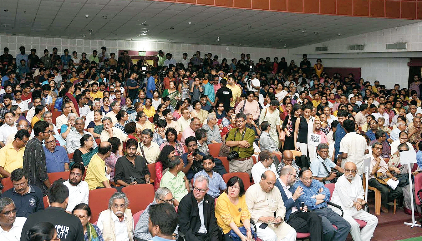 Jadavpur University's Gandhi Bhavan on Friday.