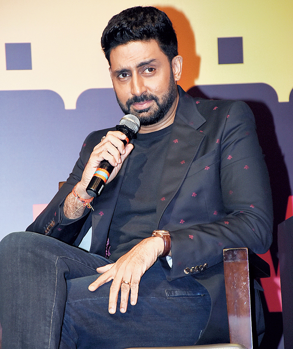 Abhishek Bachchan in Mumbai on Friday.