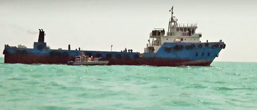 Footage released by state-run Iranian outlet Press TV purportedly shows the seized ship