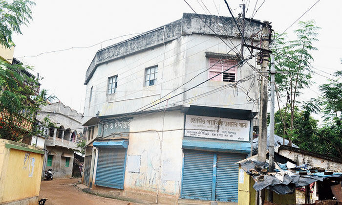 The building in Khagragarh where the blast took place on the first floor