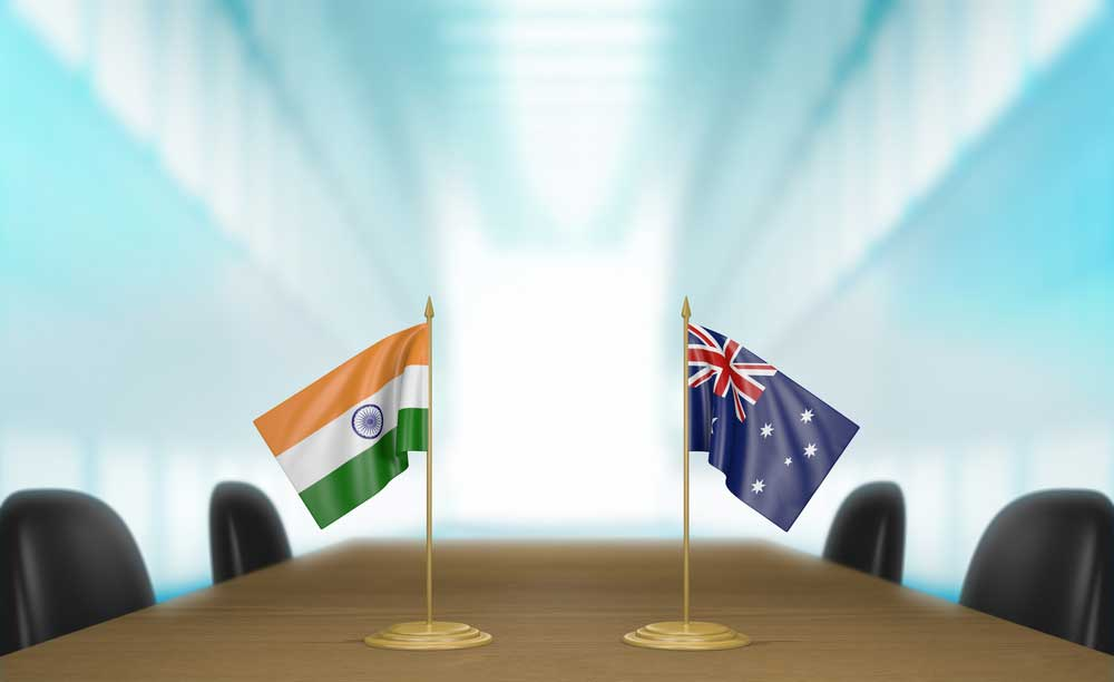India and Australia have bilateral trade worth $21 billion, which the two sides wish to push to $145 billion by 2035.