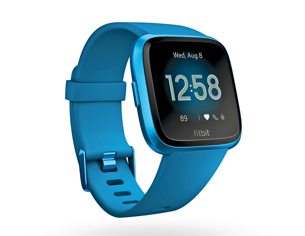 Fitbit Versa's design is elegant with a square face rounded at the edges