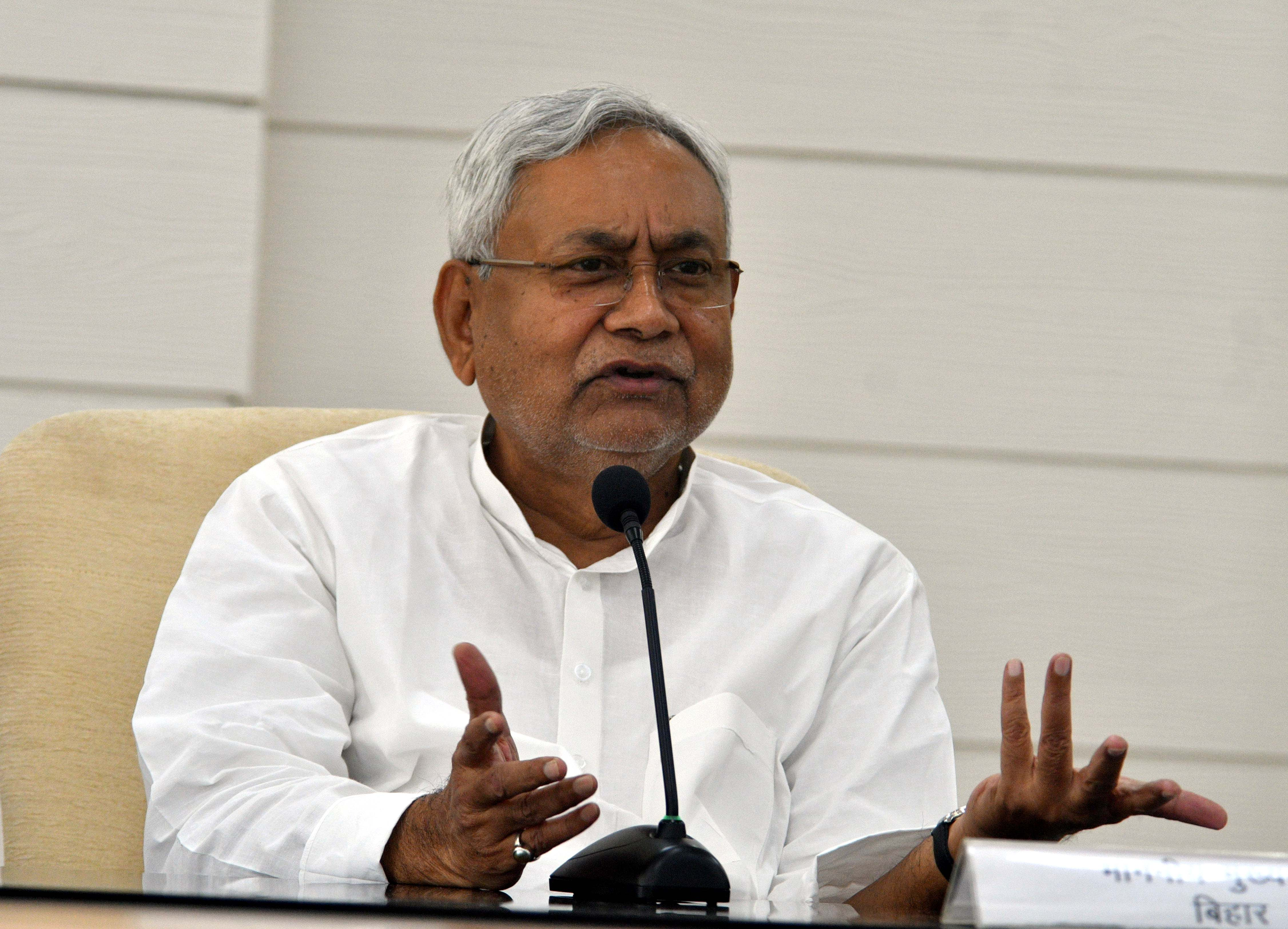 """""""The CBI took Ashwini on remand for altogether 14 days on various occasions and interrogated him. The statements and evidences given by him against chief minister Nitish Kumar (in picture) and IAS officers Atul Prasad and Dharmendra Singh were never presented in the court,"""" Ojha said."""