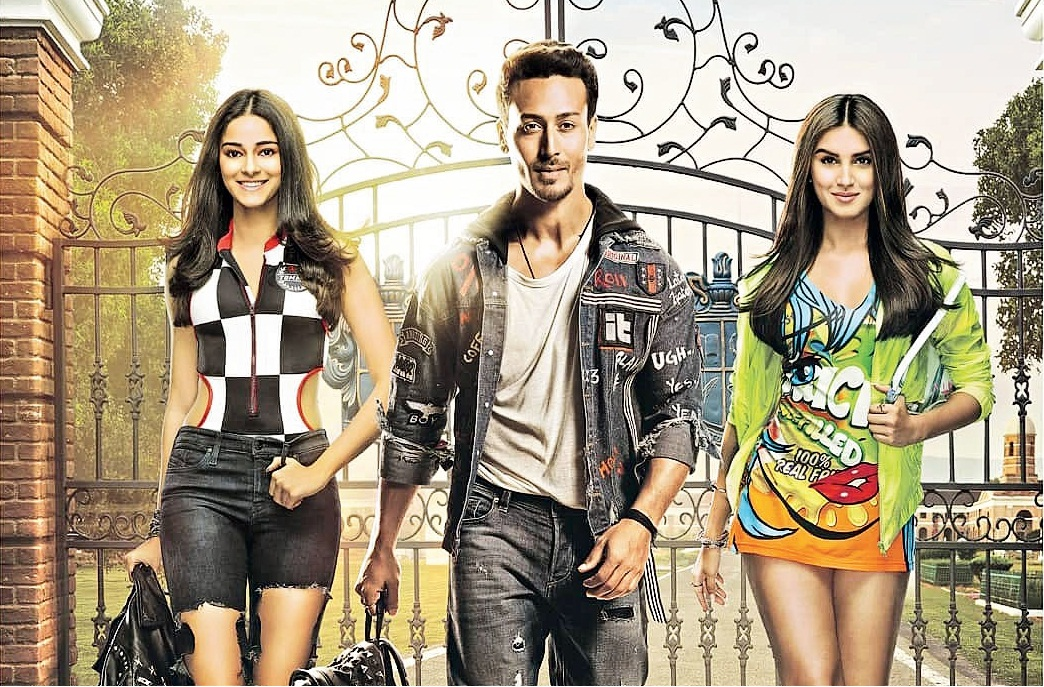 Tiger Shroff played the boy in the middle with debutantes Ananya Panday (left) and Tara Sutaria vying for his attention