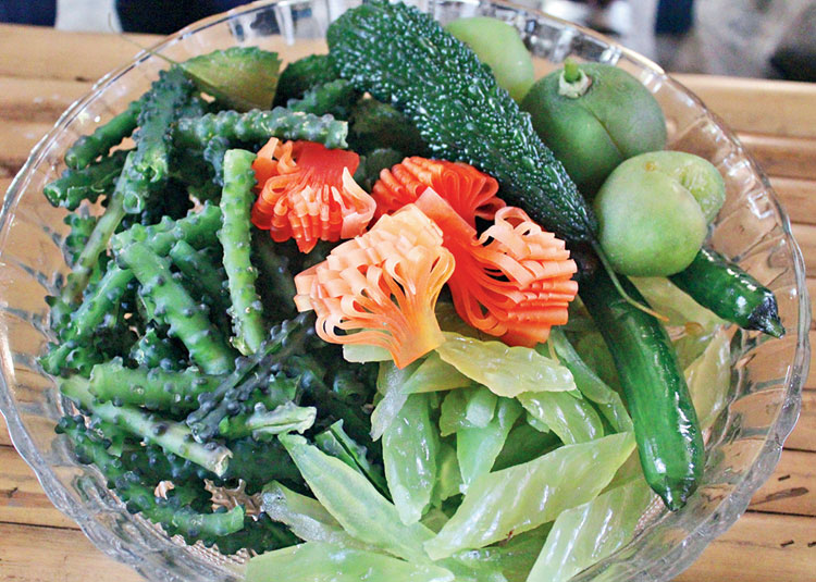 Preserved fruits and vegetables handmade by the women workers in Ban Bang Phlap