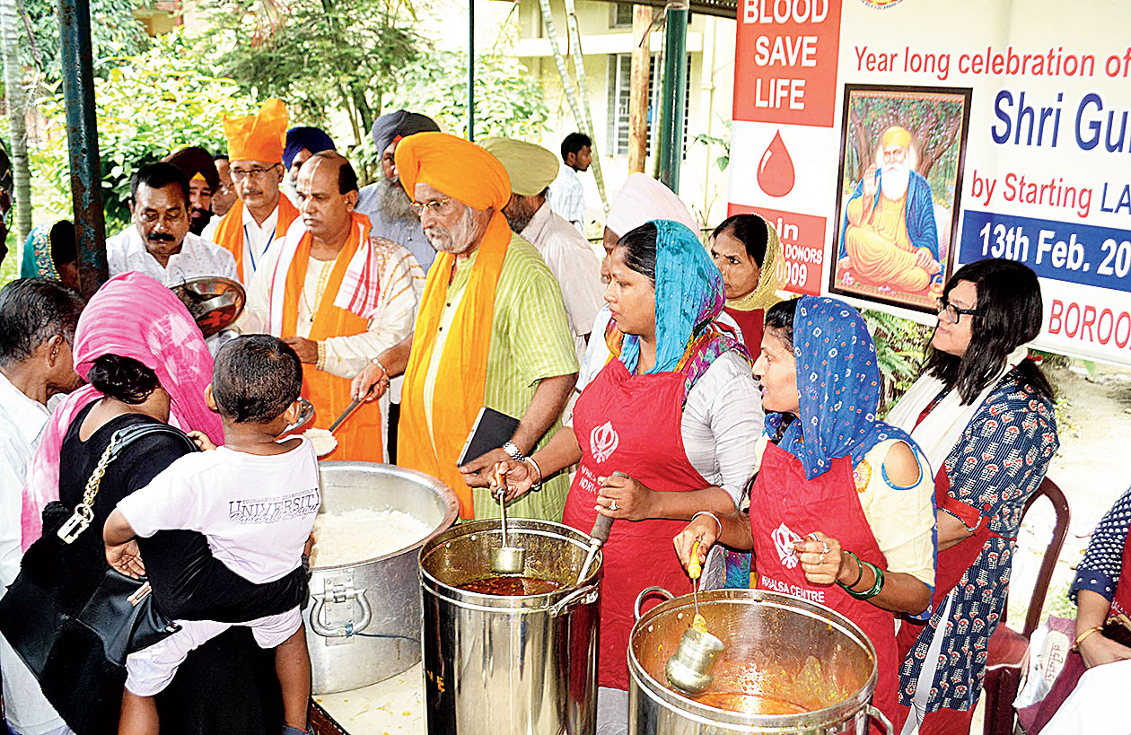 The langar at Borooah Cancer Institute in Guwahati.