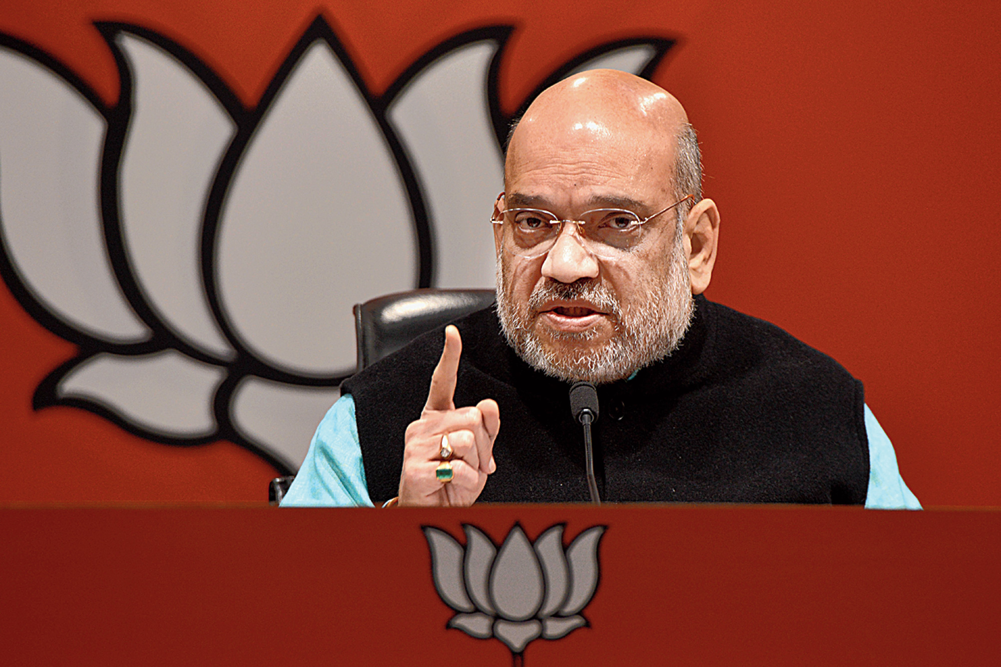 BJP chief Amit Shah in New Delhi on Friday.
