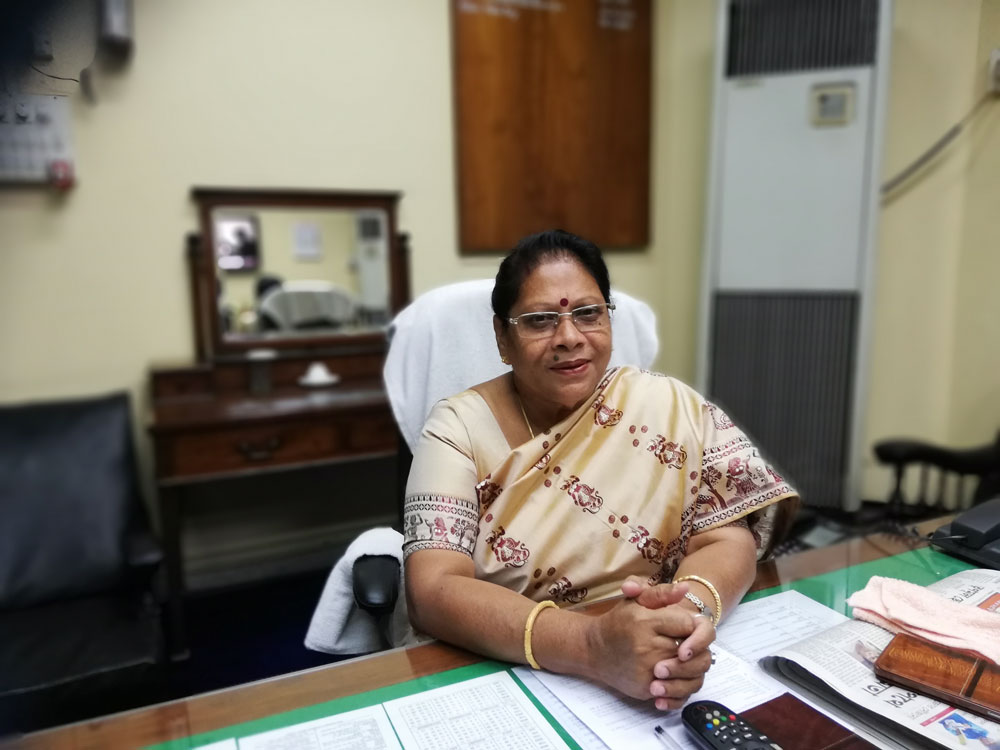 Mala Roy in her office a few days after winning the elections
