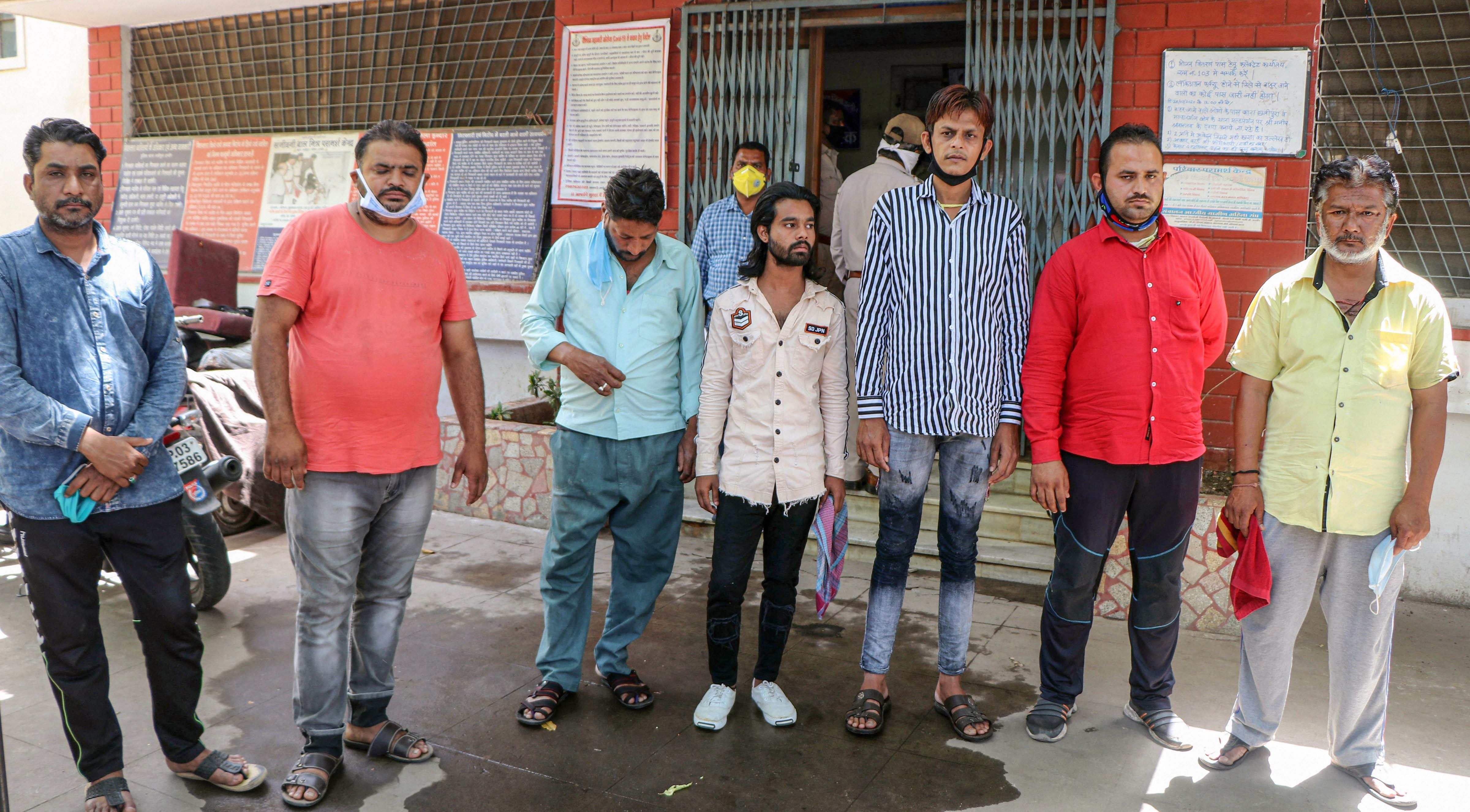 Seven people arrested by the police for attacking a team of healthcare workers health workers, when they were trying to trace the contact of a patient infected with the coronavirus, at Taat Patti Bakhal, in Indore, Thursday, April 2, 2020