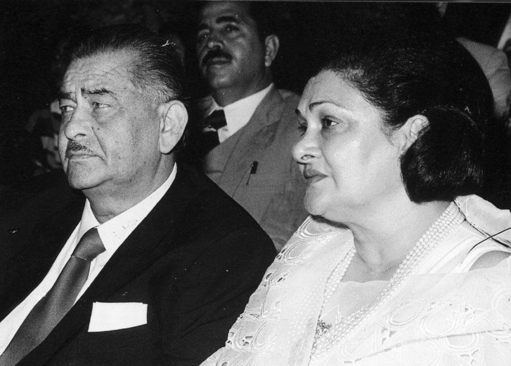 Raj Kapoor and Krishna Kapoor.