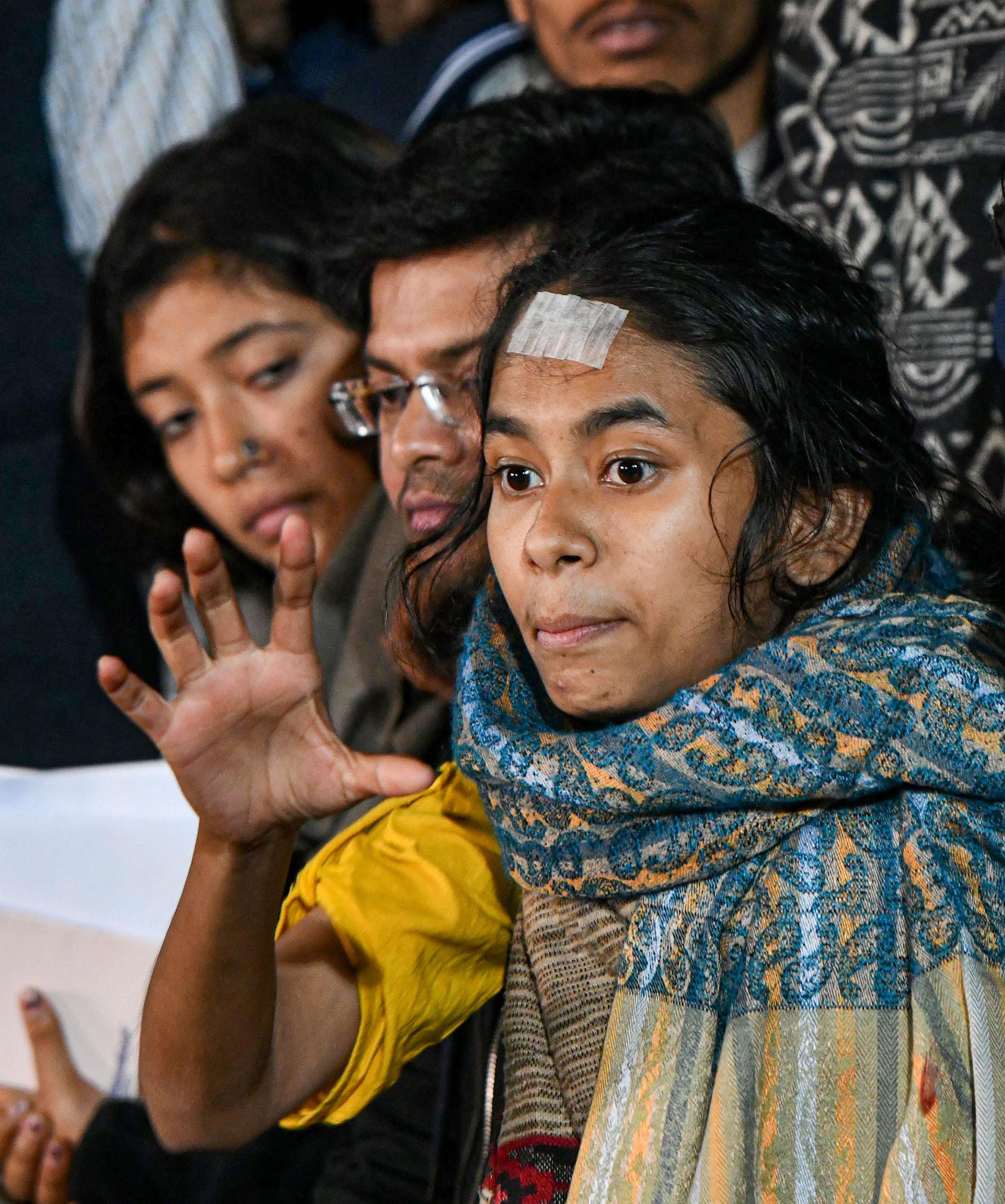 JNUSU president Aishe Ghosh (in picture) is among the seven out of the total nine suspects, who are from Left-leaning student organisations while two suspects are from the RSS-affiliated ABVP