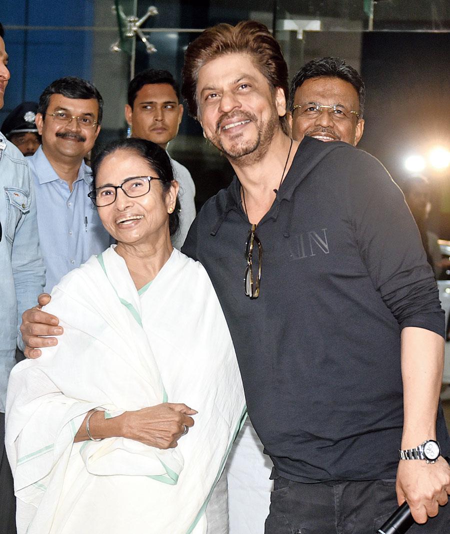 Mamata Banerjee and Shah Rukh Khan in the city.