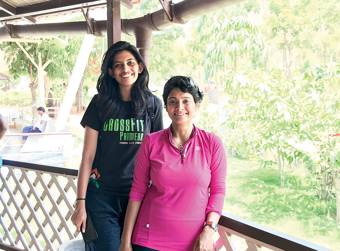 Lily (left) and Tejaswini, our guides