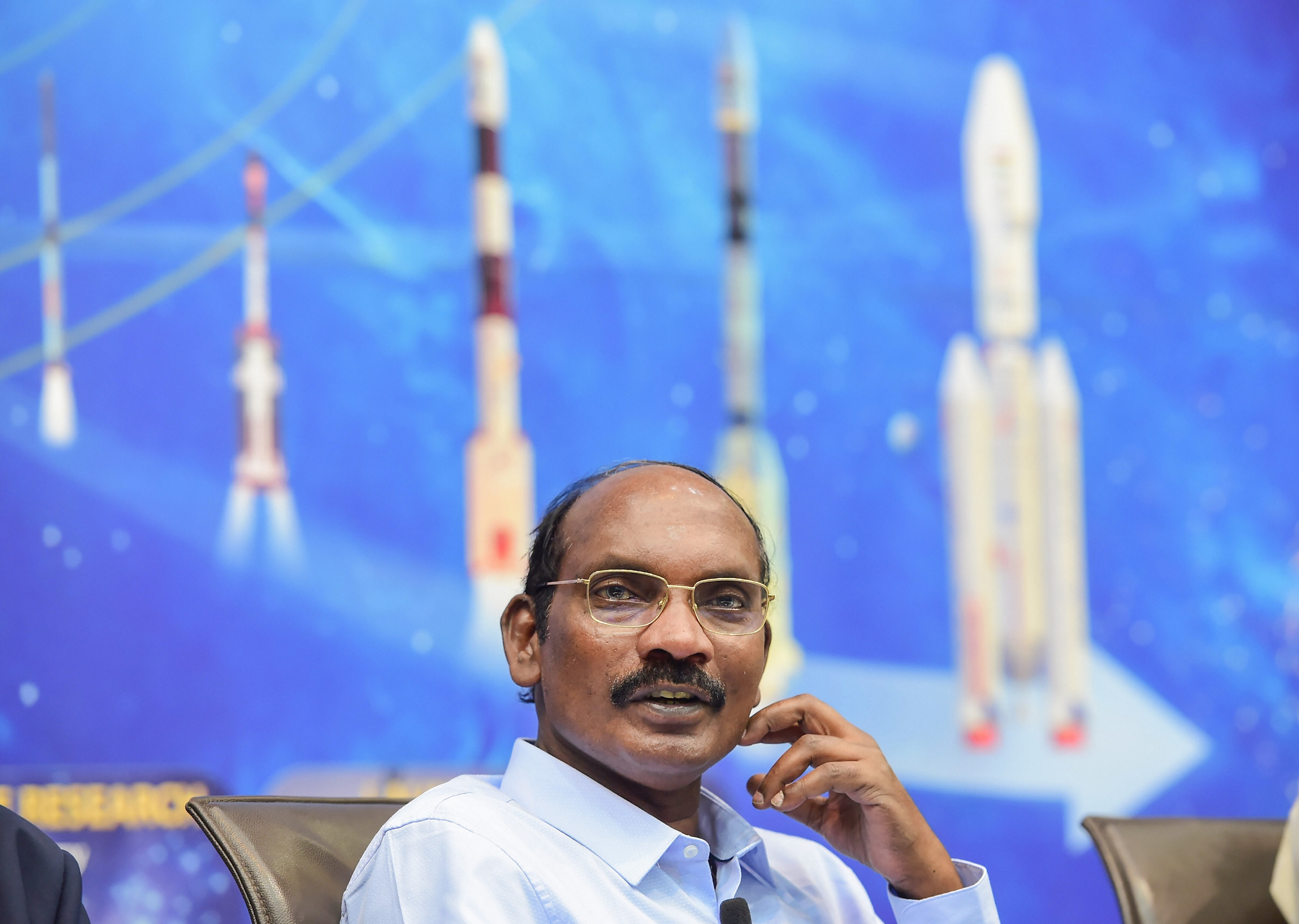 Isro chairman K. Sivan during a press conference at the space agency's headquarters in Bengaluru, Wednesday, January 1, 2020.