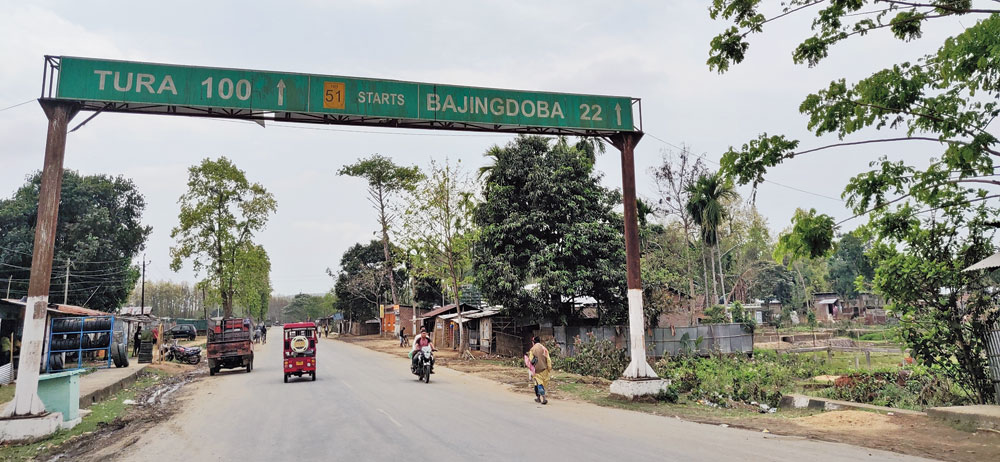 The gateway from Paikan in Assam's Goalpara to Tura in Meghalaya's West Garo Hills