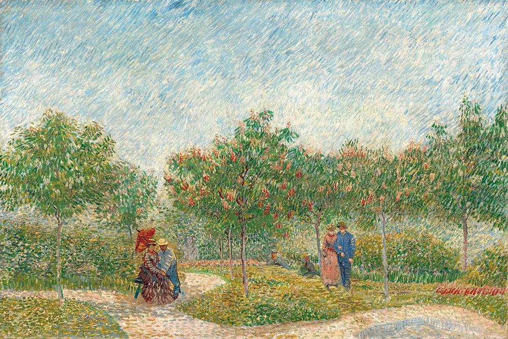 Garden with Courting Couples: Square Saint-Pierre, 1887