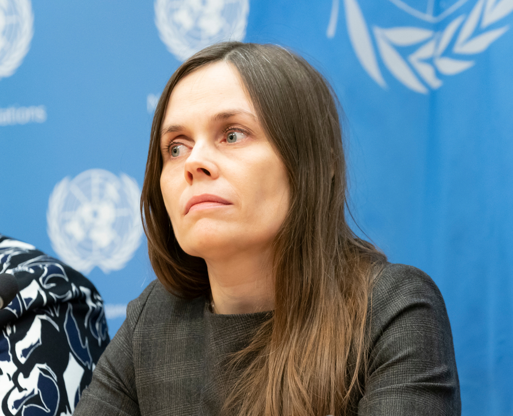 Prime Minister of Iceland Katrin Jakobsdottir.
