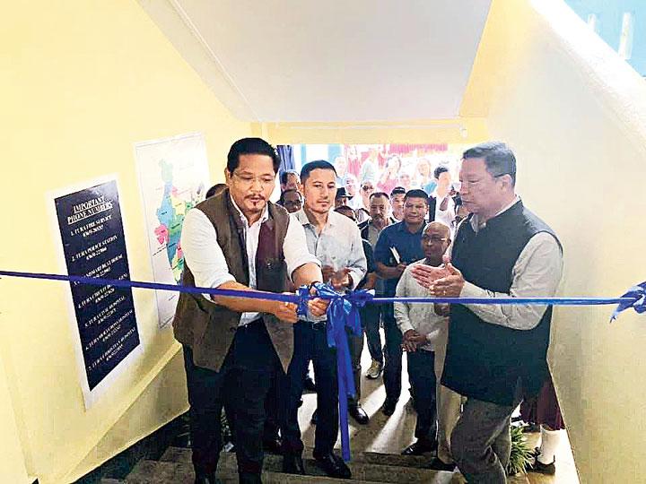 Conrad K. Sangma inaugurates the new building of Wadanang Secondary School in Tura on Saturday