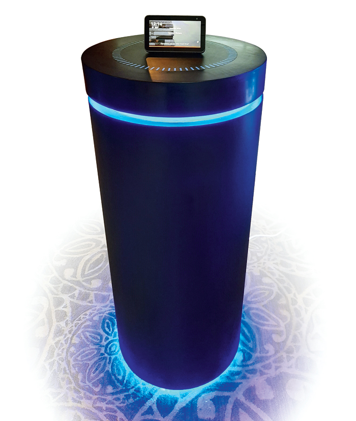 An Echo installation at Alexa VOXCON, the company's conference in India dedicated to all things voice, in Delhi last week.