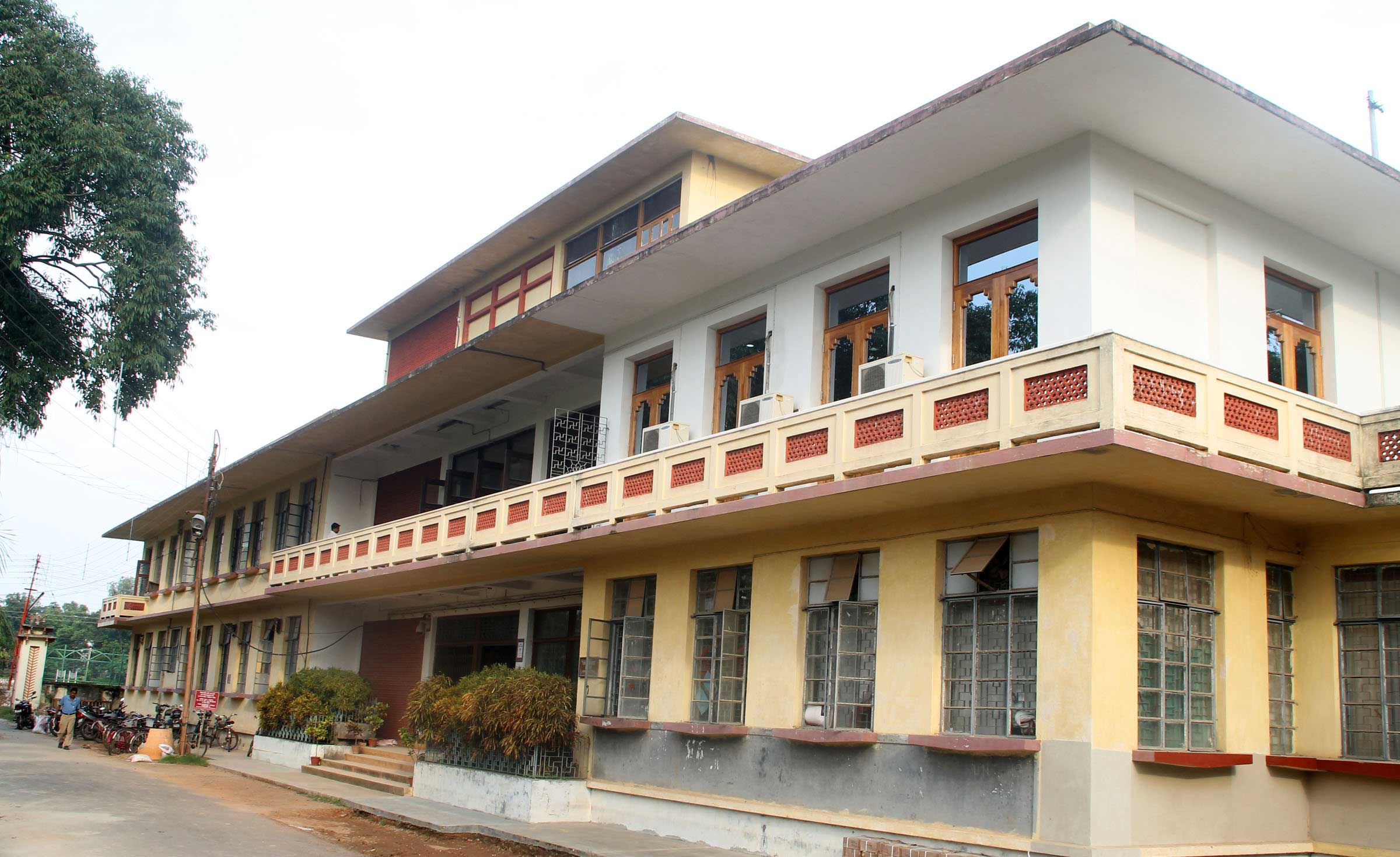 Central Office, Visva Bharati, in Santiniketan.
