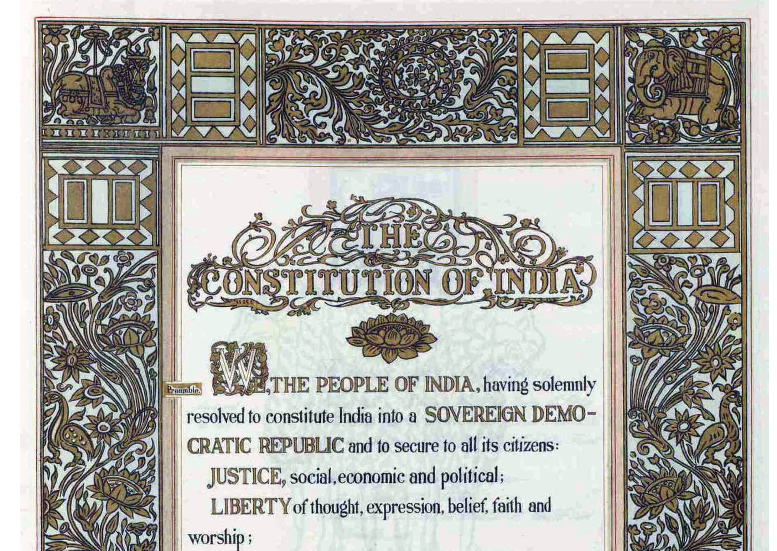 Preamble to the Constitution of India.