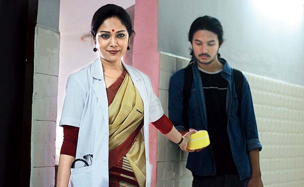 In the mood for love: Lima Das and Arghadeep Baruah in a moment from 'Aamis'