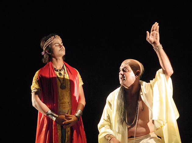 A moment from 'Kautilya Chanakya' by Chandernagore-based Yuger Yatri.