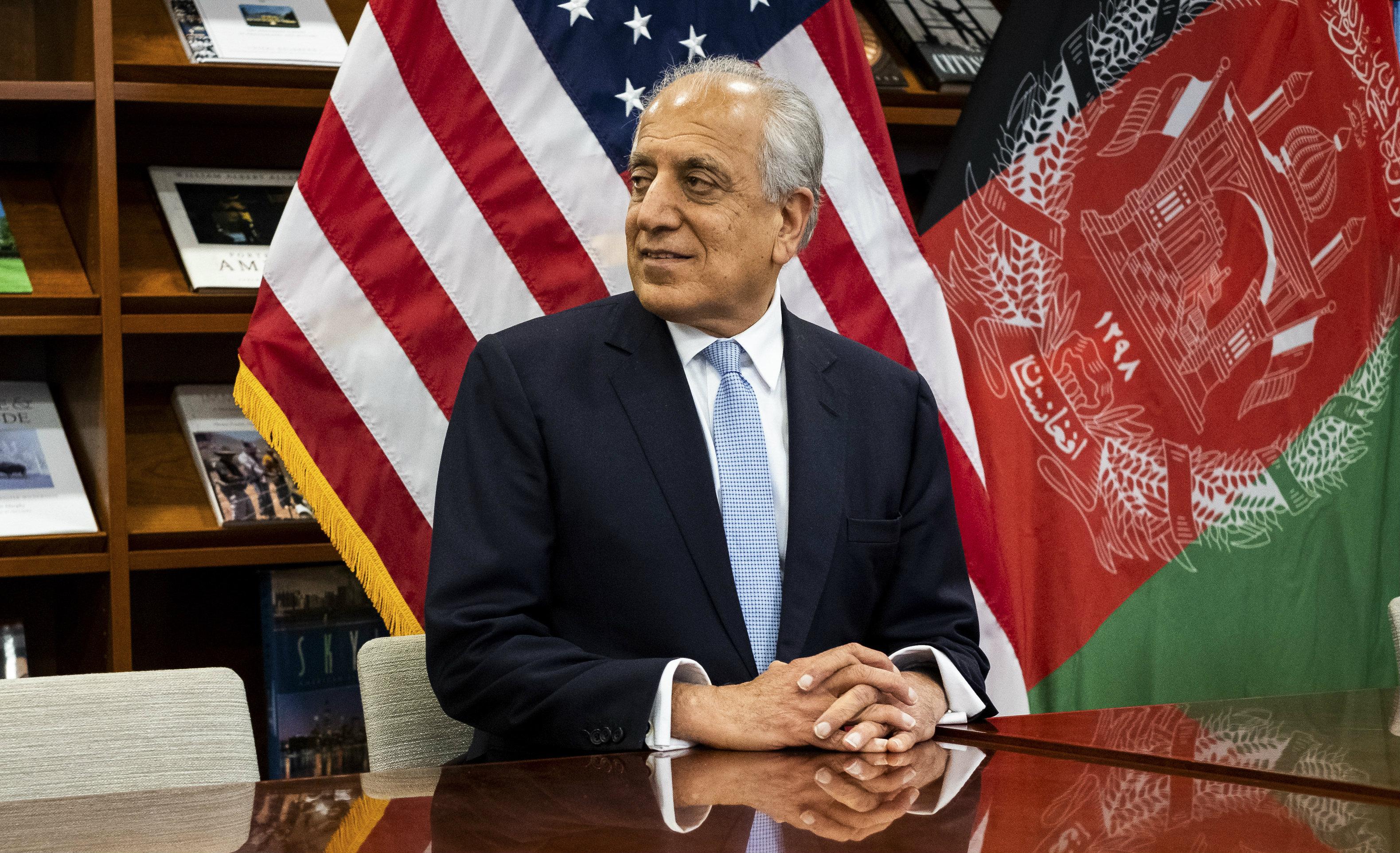 American envoy Zalmay Khalilzad at the US embassy in Kabul on January 28, 2019.
