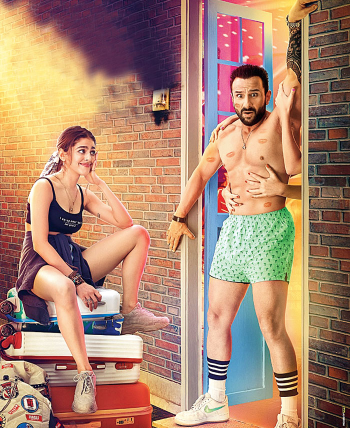 Saif's character Jazz almost hooks up with young Tia (Alaya F) one night, only to discover that she's his daughter, the result of a brief affair in his youth