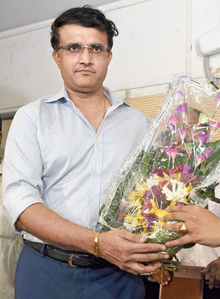 Sourav Ganguly at CAB on Tuesday