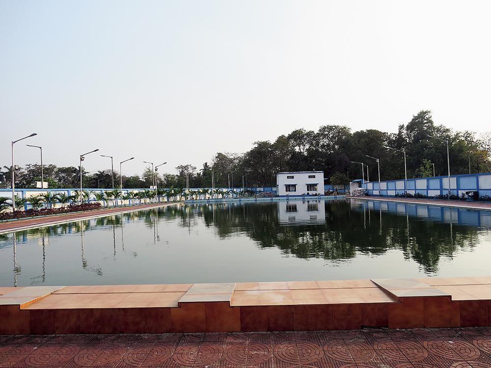 The Bidhannagar Sports Academy pool currently under maintenance