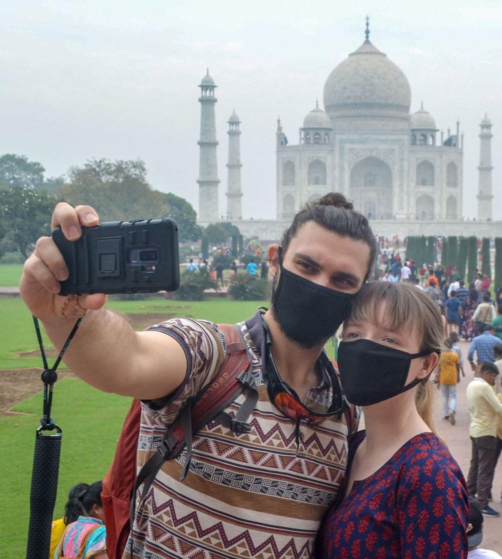 Tourists at Taj Mahal on Wednesday, November 6