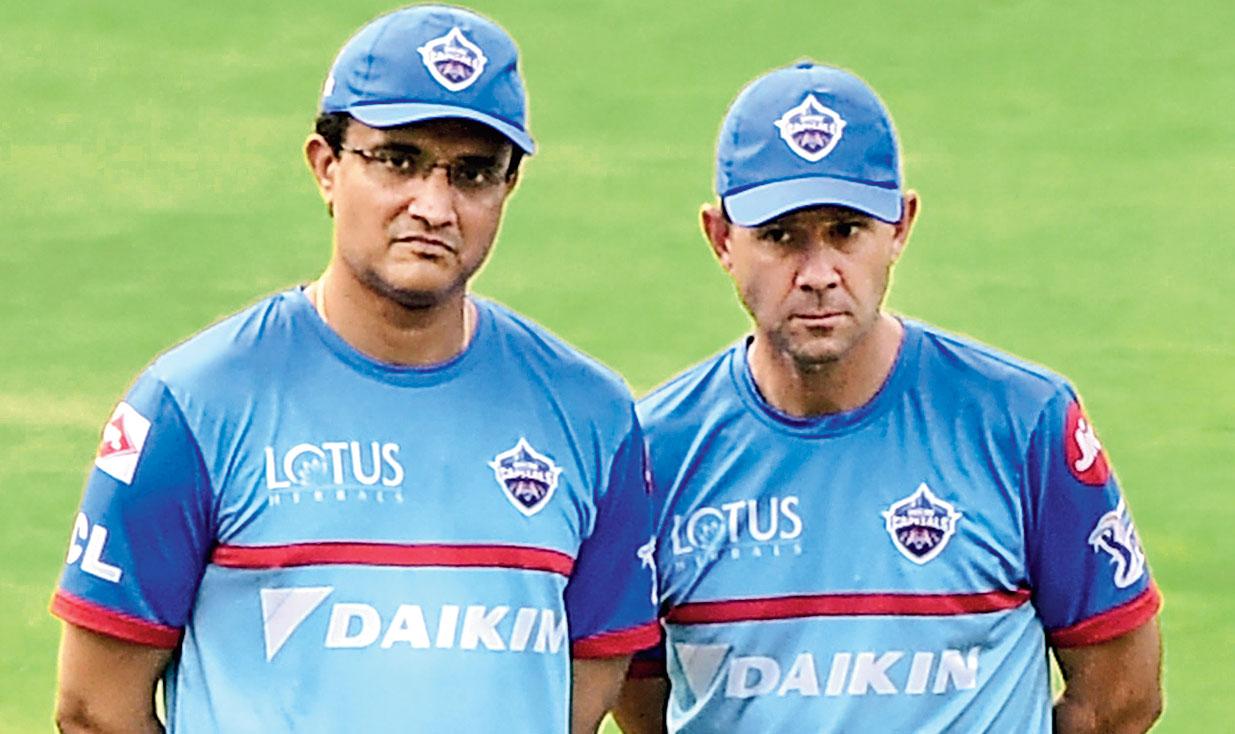 Sourav Ganguly and Ricky Ponting in Visakhapatnam on Thursday.