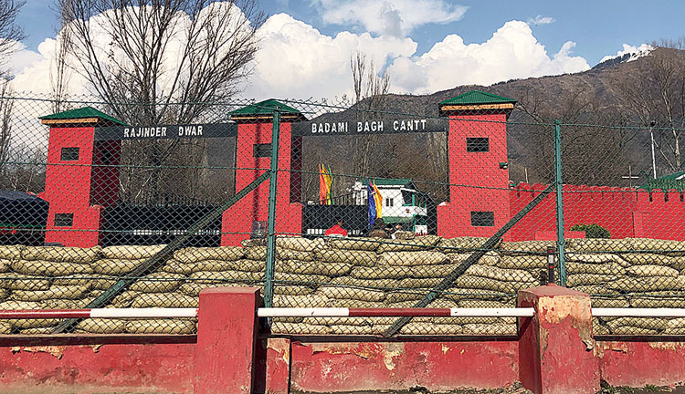 Badami Bagh, the fortified headquarters of the 15 Corps in Srinagar, from where it all begins