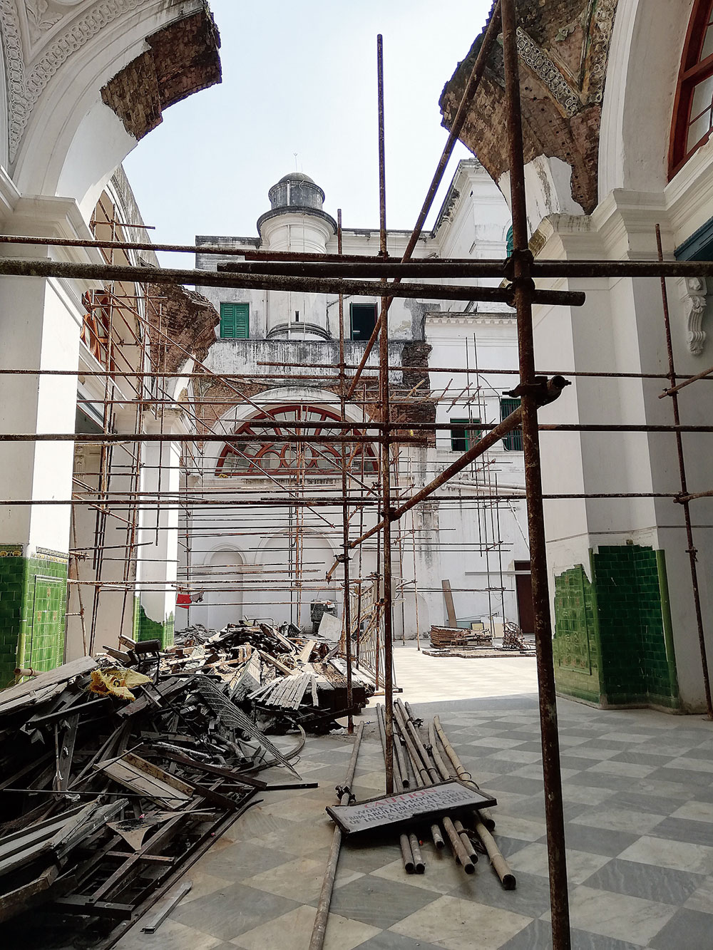Renovation work is on at the Currency Building, which used to house the office of issue and exchange of government paper currency