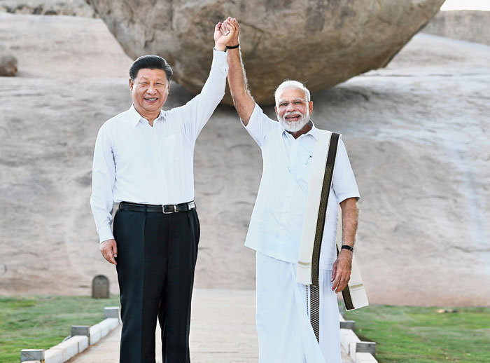 Xi and Modi on October 11