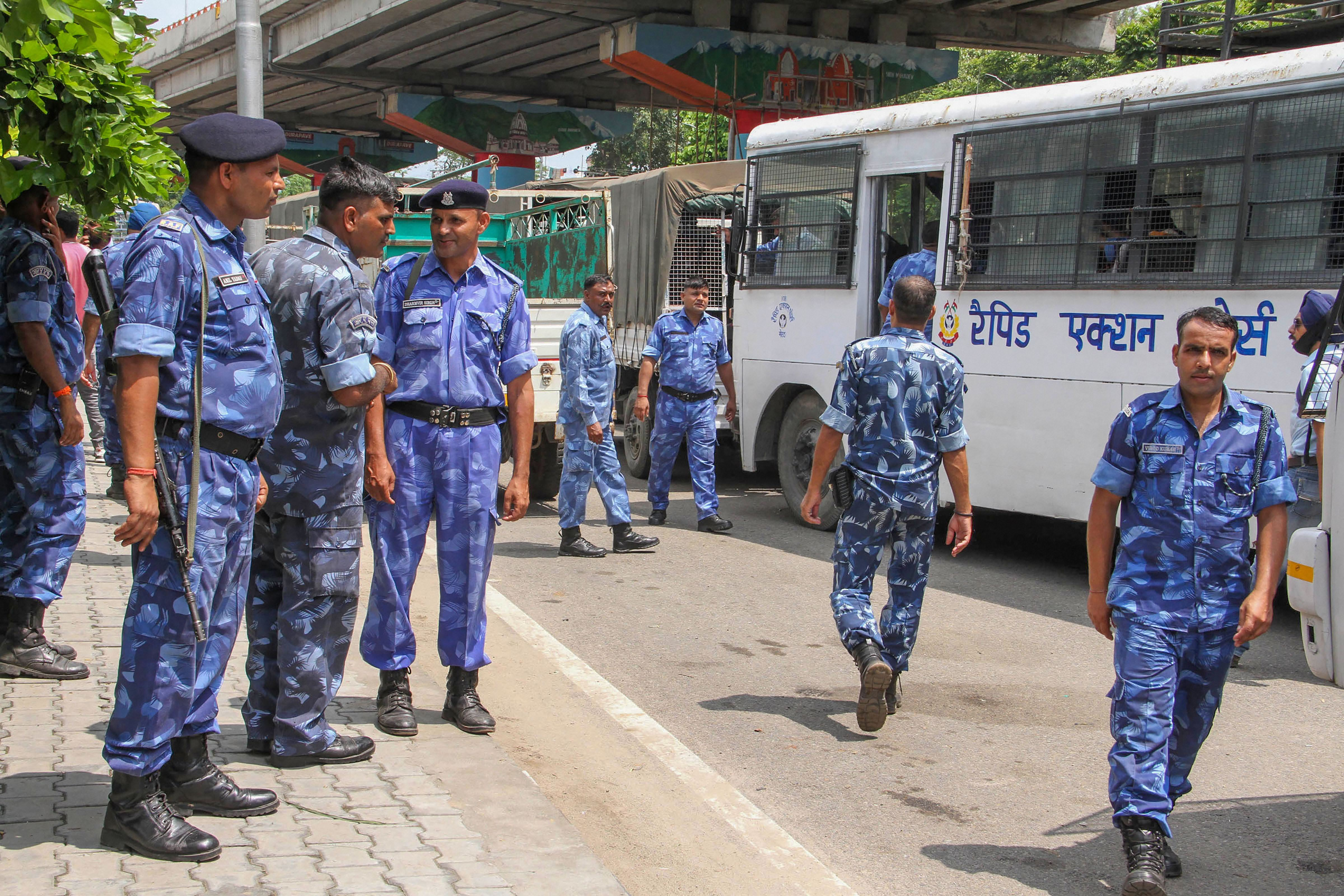 Rapid Action Force personnel in Jammu.