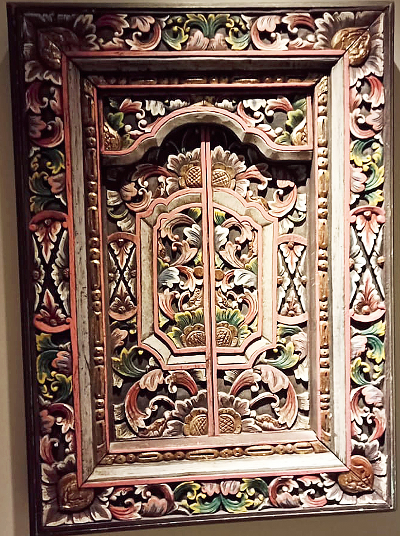 A carved wood artefact, the type Bali is well-known for