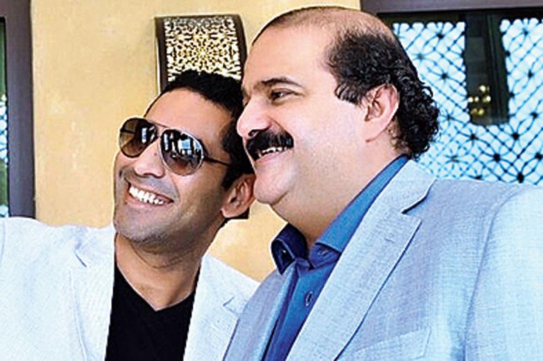 Egyptian businessman Ahmed Adel Abdallah Ahmed (left) and Sheikh Hamad Isa Ali Al-Khalifa.