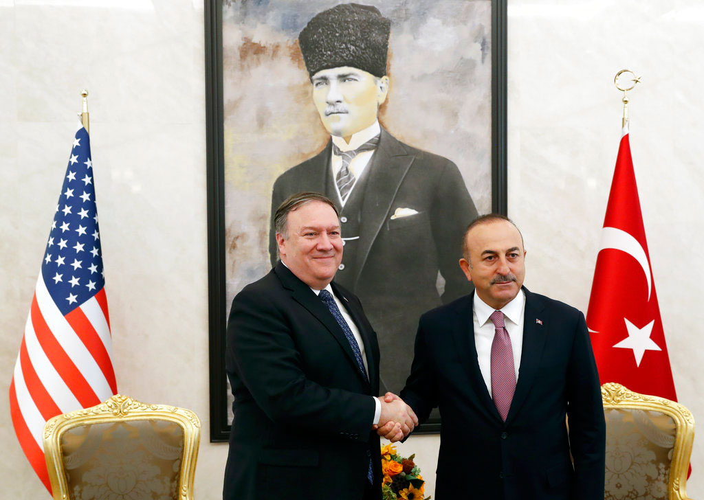 Pompeo meets Turkish President, foreign minister